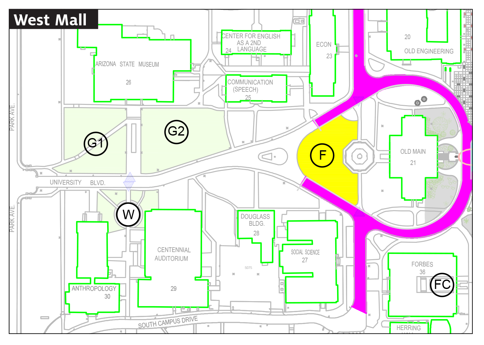 west mall map