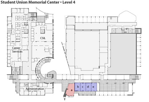 student union memorial center map, level 4